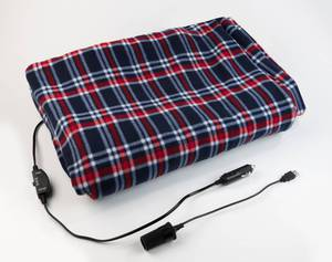 Fleece Heizdecke bunt, 12 Volt und USB - Anschluss