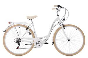 "KS Cycling Damenfahrrad Cityrad 28"" Casino weiß 6 Gänge"