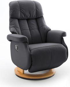 MCA Relaxsessel Calgary Comfort XL manuelle Verstellung schwarz - Gestell natur
