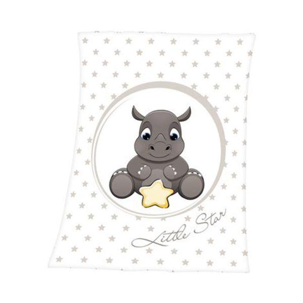 HERDING   Babydecke Nashorn 75x100 cm