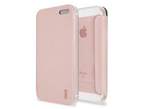 Artwizz SmartJacket, Schutzhülle mit Deckel für iPhone SE, roségold