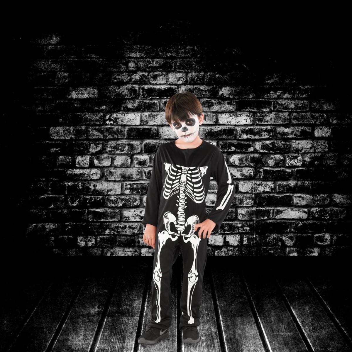 Bild 1 von Halloween Kinderkostüm Skelett Junge