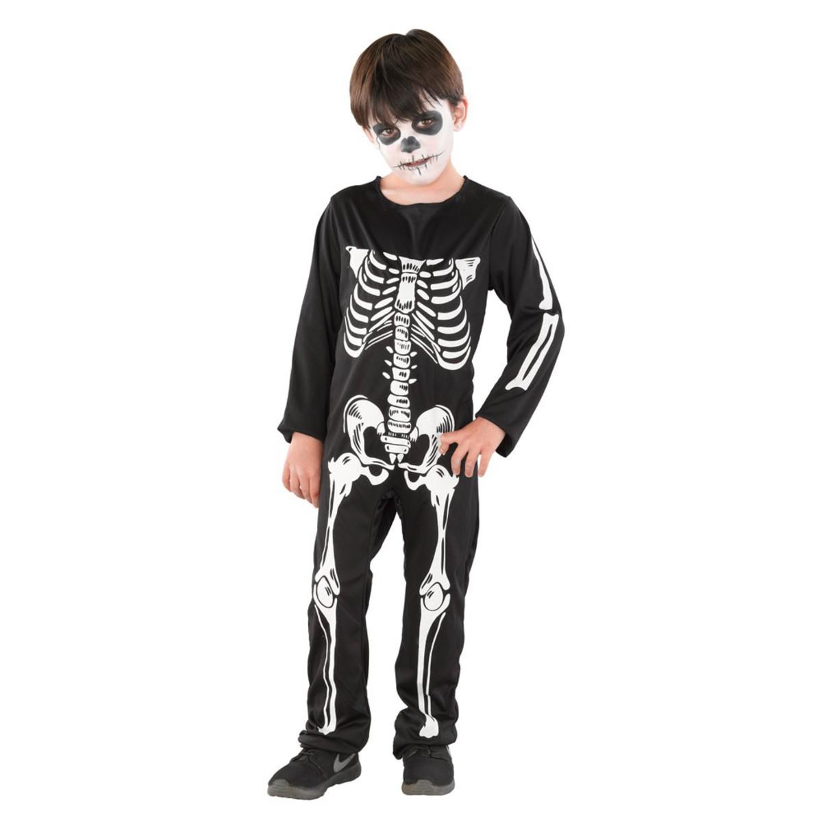 Bild 2 von Halloween Kinderkostüm Skelett Junge
