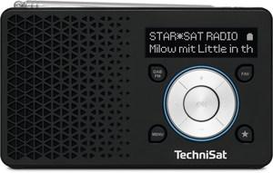 TechniSat DigitRadio 1 Taschenradio schwarz/silber