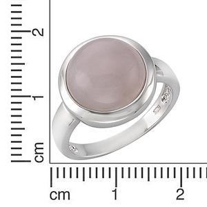 ZEEme Jewelry Ring 925/- Sterling Silber rhodiniert Rosenquarz (Größe: 056 (17,8))