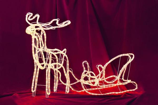 merxx led lichtschlauch silhouette rentier mit schlitten au en von norma ansehen. Black Bedroom Furniture Sets. Home Design Ideas