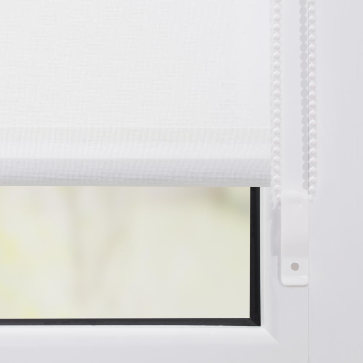 Bild 2 von Lichtblick Rollo Klemmfix, ohne Bohren, blickdicht, Rentiere Muster - Rot Weiß, 120 cm x 150 cm (B x