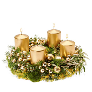 Goldener Advent - | Fleurop Adventskranz