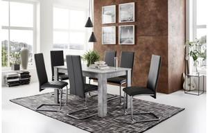 7-teilige Tischgruppe Nitro Beton Optik/ grau