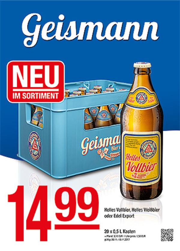 Geismann Helles Vollbier, Helles Weißbier oder Edel Export von ...