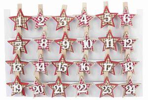 Adventskalender-Clips - Sterne