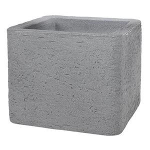 Kubus Pflanzkübel Stone 39x39cm Grau