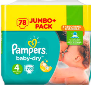 PAMPERS Baby-Dry Jumbo+Pack