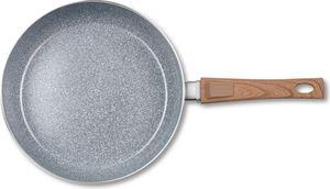 BRATmaxx Keramik-Pfanne Granit-Design mit Griff in Holz-Optik, 28 cm