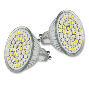 LED Leuchtmittel 3 W MR16 (2er-Set) mit GU10-Sockel