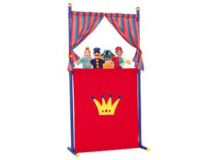 Simba Puppentheater mit 4 Handpuppen