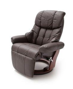 MCA Relax-Sessel Calgary 2 mit Fußstütze, braun - Gestell walnuss