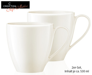 CROFTON®  Chef's Collection Design-Kaffeebecher-Set