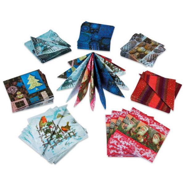 Weihnachtsservietten - sortierte Motive - 20er-Pack