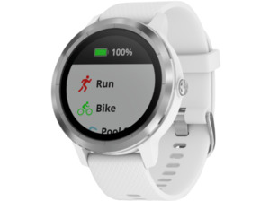 GARMIN Vivoactive 3, Smartwatch, Silikon, Weiß/Silber