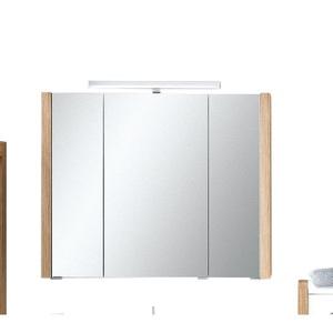 Spiegelschrank Sonoma Eiche Nachbildung ca. 87,5 x 71/75 x 16,5 cm