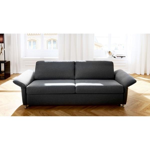 Sofa ANCONA Stoffbezug Anthrazit ca. 197 x 81 x 94 cm von porta ...