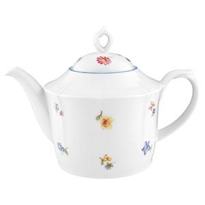 Seltmann Weiden Teekanne / Kanne 1,15 l SONATE NOSTALGIE Weiß mit Streublumendekor