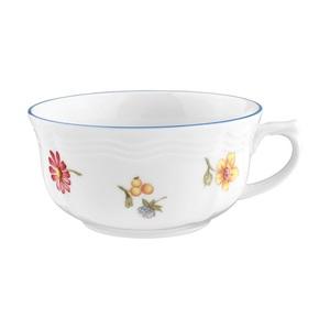 Seltmann Weiden Tasse / Teetasse 210 ml SONATE NOSTALGIE Weiß mit Streublumendekor