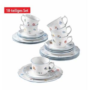 Seltmann Weiden Kaffeeservice 18 teilig SONATE NOSTALGIE Weiß mit Streublumendekor