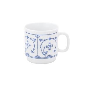KAHLA Tasse /Kaffeebecher /Henkelbecher 300 ml BLAU SACS Weiß mit blauem Dekor