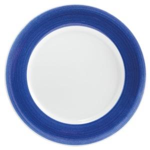 """KAHLA Teller /Speiseteller Ø 27,5 cm PRONTO """"Wir machen BLAU"""" Kaethe W. Weiß/Blau gewischt"""