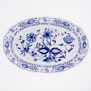 KAHLA Teller oval /Servierplatte 31,4 x 20,9 cm ROSSELLA ZWIEBELMUSTER Weiß/Blau