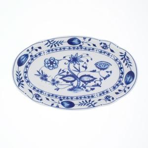 KAHLA Teller oval /Servierplatte 22,3 x 13,2 cm ROSSELLA ZWIEBELMUSTER Weiß/Blau