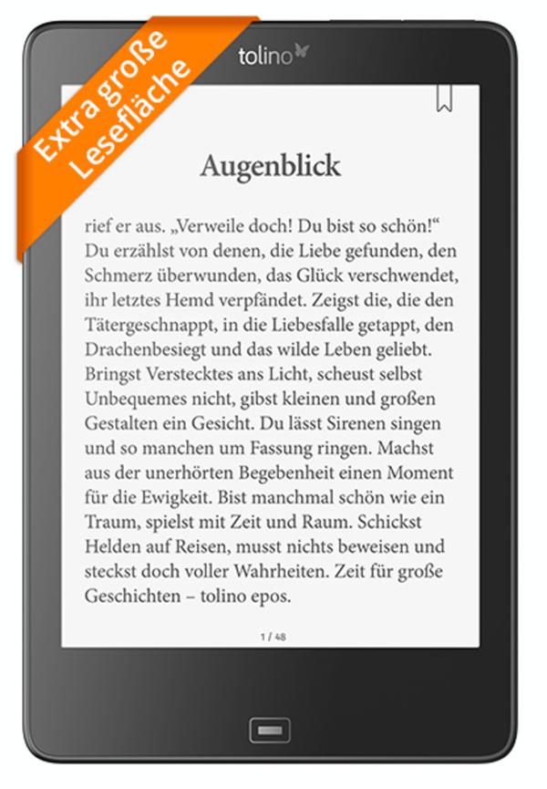 tolino epos - Premium eBook Reader mit Maxi-Display