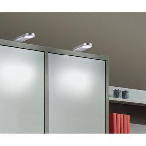 LED Aufbau/Unterbauleuchte Silber 2er-Set