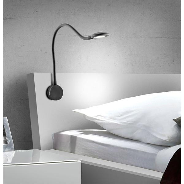 led bettleuchte schwarz 2er set von porta m bel f r 139 ansehen. Black Bedroom Furniture Sets. Home Design Ideas
