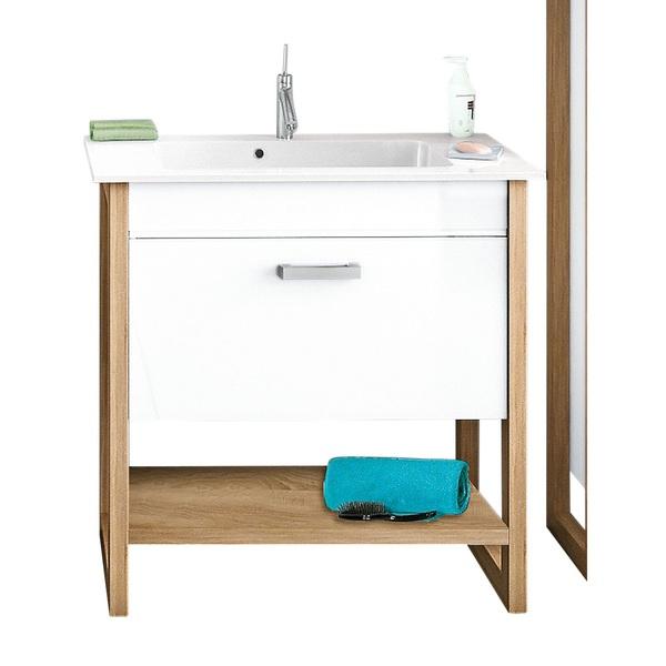 Waschbeckenunterschrank Sonoma Eiche Nachbildung Weiss Ca 90 2 X 88