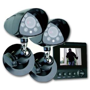 Farb-Kamerasystem 2 x Kamera & TFT Monitor 4 Zoll ELRO