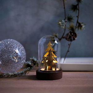Lichtobjekt Winter, LED, D:5cm x H:9cm, natur