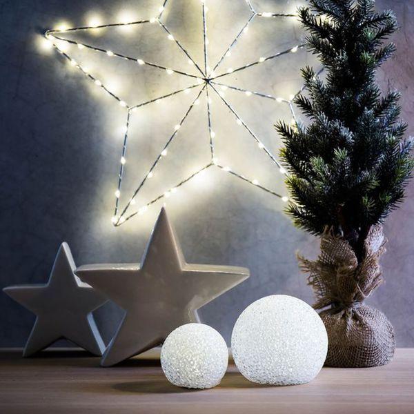 Depot Weihnachtsbeleuchtung.Led Schneekugel D 11cm Weiß