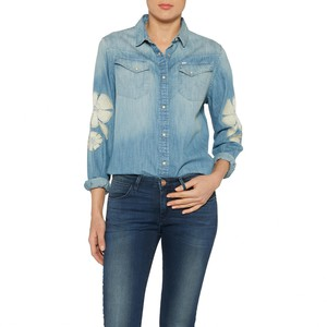 Wrangler            Western Flowe Damen Shirt light indigo