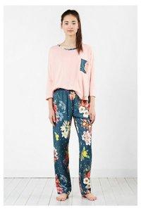 Pyjama-T-Shirt  Dark Floral