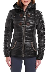 Materialmix Jacke