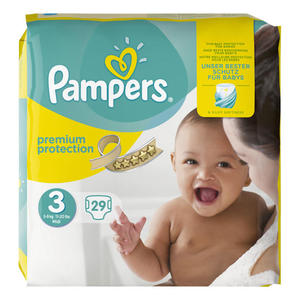 Pampers Windeln Premium Protection, Größe 3 Midi