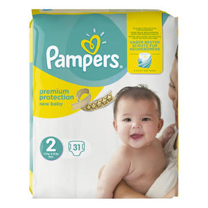 Pampers New Baby Windeln Premium Protection, Größe 2 Mini