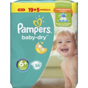 Pampers Baby Dry Windeln Baby Dry Sparpack, Größe 6+ Extra Large Plus