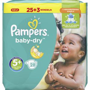 Pampers Baby Dry Windeln Baby Dry Sparpack, Größe 5+ Junior Plus