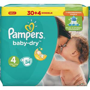 Pampers Baby Dry Windeln Baby Dry Sparpack, Größe 4 Maxi