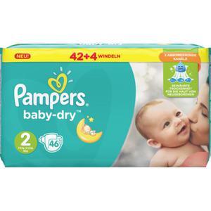 Pampers Baby Dry Windeln Baby Dry Sparpack, Größe 2 Mini