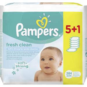 Pampers fresh clean Feuchttücher 5+1